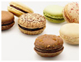 Decadent looking macarons which calories count which may go to the hips :)