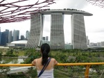 the view looking into the Marina Bay Sands